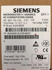 SIEMENS 6SE6400-3CC00-6AD3 MICROMASTER 4/SINAMICS AC COMMUTATION CHOKE 4.8A