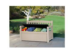 Keter Eden Plastic Garden Storage Bench Outdoor Garden Patio Store Storage