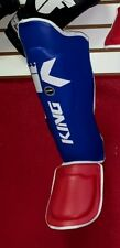 SALE King Professional Muay Thai KickBoxing Shin Guards blue red Med R $89