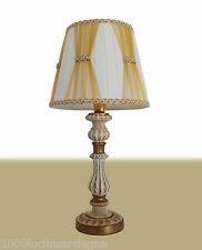 LUME, LUMETTO, LAMPADA DA TAVOLO DESIGN CLASSICO in ceramica avorio oro