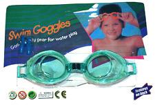 Kids Swimming Goggles & Ear Plugs / Green