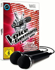 The Voice Of Germany: I Want You + 2 Mikrofone (Nintendo Wii, 2016, DVD-Box)