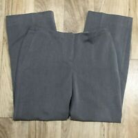 NEW Chicos Gray Ultimate Fit Wide Leg Metro Trousers Size 1(M/8)Pants Womens NWT