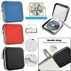 40 CD/DVD Car Disc Storage Wallet CD Holder Carry Case Sleeve Protector Bag UK
