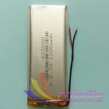 3.7V 1200mAh Batería de polímero de iones Lipo 433080 para MP3 MP4 auricular Bluetooth GPS