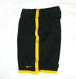 Nike Men's basketball black/yellow shorts RN#56323 CA#05553 Size L