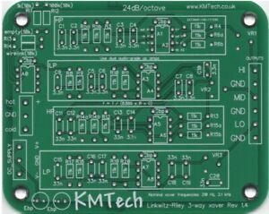 LR mono 3-way active crossover filter balanced or unbal input PCB DIY rev 1.4