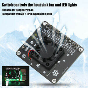 Professional GPIO Expansion Board LED Cooling Fan For Raspberry Pi 4B/3B+/3B/3A+
