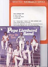 "Pepe Lienhard Band, One to ten, Promo Info, VG/VG++ 7"" Single 0884-4"