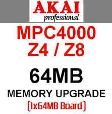 AKAI Z4 Z8 MPC4000 - 64MB Sample Memory Upgrade. ROLAND MC909 MC808 JUNO-G XR