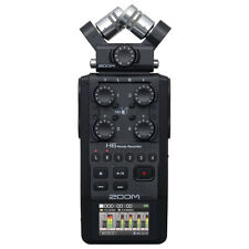 Zoom H6 All Black (2020 Version) 6-Track Portable Handy Recorder with Single Mic