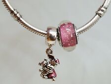 Set of 2 Pandora Authentic Charms Disney Piglet #792134EN117 Pink Disney Murano