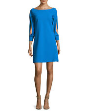 La Petite Robe di Chiara Boni Tony Slit Sleeve dress Blue Sz 8 NWT $650