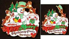 Disney WDW MVMCP Chip & Dale Snowman Pin