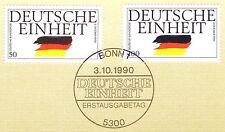 BRD 1990: Deutsche Einheit Nr. 1477+1478! Bonner Ersttags-Sonderstempel! 1A 1510