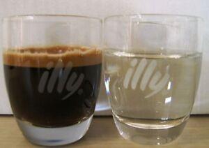 ILLY LOGO Wasser - und Espressoglas 6 St. weißes Logo