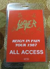 Genuine Otto Slayer 1987 Reign in Pain Tour All Access Laminated Backstage Pass