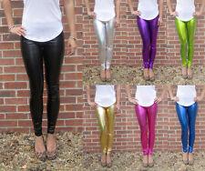 LONG length Leggings Ultra shine Shiny Metallic SIZE 6 8 10 12 14 16 18 20 Tall