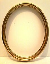 "11 X 14 ITALIAN MADE GOLD LEAFED OVAL STANDARD PICTURE FRAME 1 1/4"" WIDE"