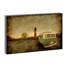Bulli - Bild Strand Meer Dünen Nordsee Leinwand  Poster XXL 120 cm*80 cm 724