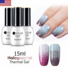 UR SUGAR 15ml Holographics Thermal UV Gel Polish Soak Off Color Changing Varnish