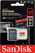 SanDisk Extreme 256GB 160MB/S Class 10 Micro SD MicroSDXC U3 Memory Card SDSQXA1