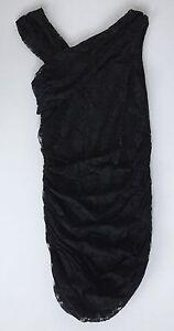 Submarine Girls Black Lace Stretch Dress 14 NWT $115