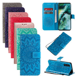 For OPPO A5 A9 2020 Realme 6 Find X2 Pro Case 3D Patterned Flip Leather Cover