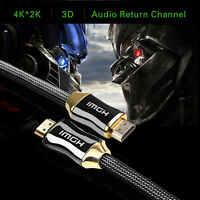 HDMI Cable 5M High Speed v2.0/1.4a with Ethernet 18Gbps 3D TV 2160p PS4 SKY HD