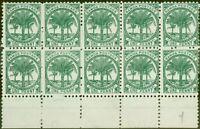 Samoa 1897 1d Bluish Green SG58a P.11 Fine Unused Block of 10