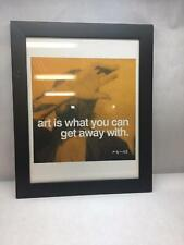 ANDY WARHOL Art PRINT Black FRAME Wall HANGING Orange ART is What YOU Can QUOTE