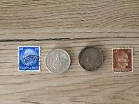 2 Mark WW2 German Silver Coin Third Reich only Swastika 1939 random pick