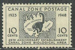 U.S. Possession Canal Zone stamp scott 141 - 10 cent issue of 1948 - mng  x