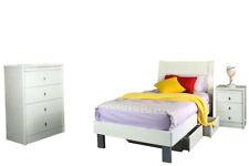 EOFY SALE Lisa SINGLE Storage Bed BS Tall Boy BEDROOM SET white 4myhomecomau