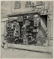 EDWARD WILLIS PAIGE (1890-1960) Signed Etching THE FANCIER'S SHOP - 20TH CENTURY