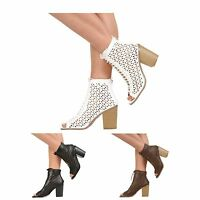 NEW WOMENS LADIES HIGH HEEL PEEP TOE LACE UP GHILLIE SANDALS SHOES SIZE 3-8