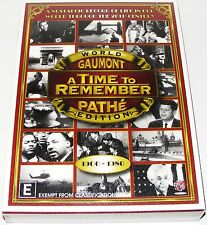 A TIME TO REMEMBER-World Edition Gaumont Pathe-1900-1980-(New Sealed Dvd 5 Disc)