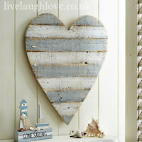 Large Wall Hanging Rustic Painted Wooden Heart