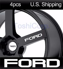 4 FORD Stickers Decals Wing Mirror Door handle Wheels Mustang Sport WHITE