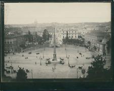 Italie, Rome, Piazza del Popolo,  Vue générale depuis les jardins de la Villa Bo