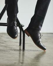 Handmade Men Black Chukka Boots, Men Casual Leather Ankle Chukka Boots