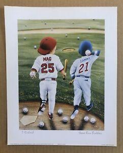 Mark McGwire & Sammy Sosa 8x10 Baseball Animated Baby Print