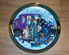 """Royal Copenhagen 1992 Plate """"Christmas Shopping"""" Christmas in Denmark Series"""