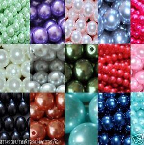 4mm/200pcs 6mm/ 150pcs  8mm/100pcs 10mm/80pcs glass pearl beads by 1st class
