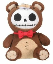 Furrybones Brown Bear Honeybear w/ Red Bow Tie Skull Skeleton Small Plush Doll
