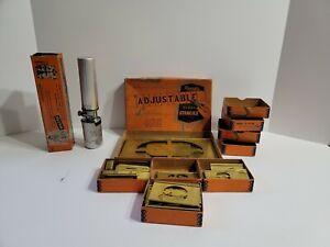 Vintage Lot Reese's Adjustable Brass Stencils Marsh Fountain Brush