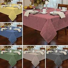 Gingham Check Tablecloths Kitchen Dining Table Covers Rectangle Square Round