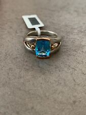 18 Karat And Sterling Silver Topaz Fashion Ring NWT