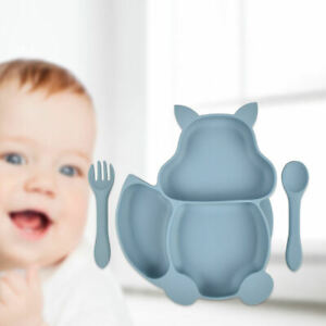 Suction Plates Babies Toddlers - 100% Silicone Stay Put with Suction Feature