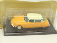 UH et Norev Presse 1/43 - Citroen DS ID 19 1957 Jaune Orange